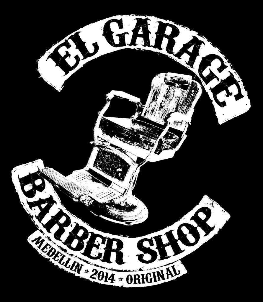 El Garage Barber Shop Logo Volteado